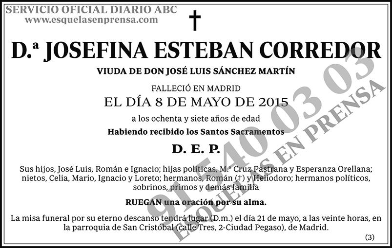 Josefina Esteban Corredor